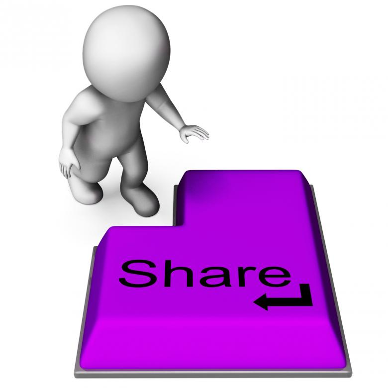 Free Stock Photo of Share Key Means Posting Or Recommending On Web Created by Stuart Miles