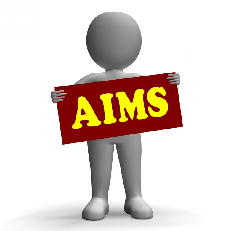 Free Stock Photo of Aims Sign Character Means Aspirations And Goals Created by Stuart Miles