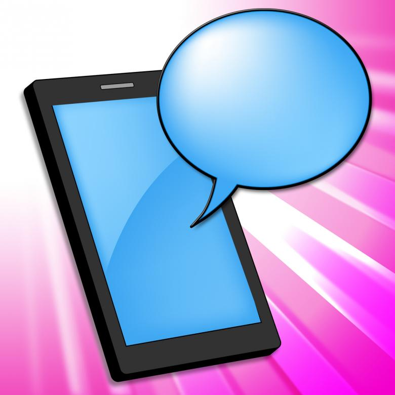Free Stock Photo of Mobile Phone Indicates Smartphone Online And Chatting Created by Stuart Miles