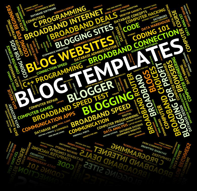Free Stock Photo of Blog Templates Represents Text Plans And Words Created by Stuart Miles