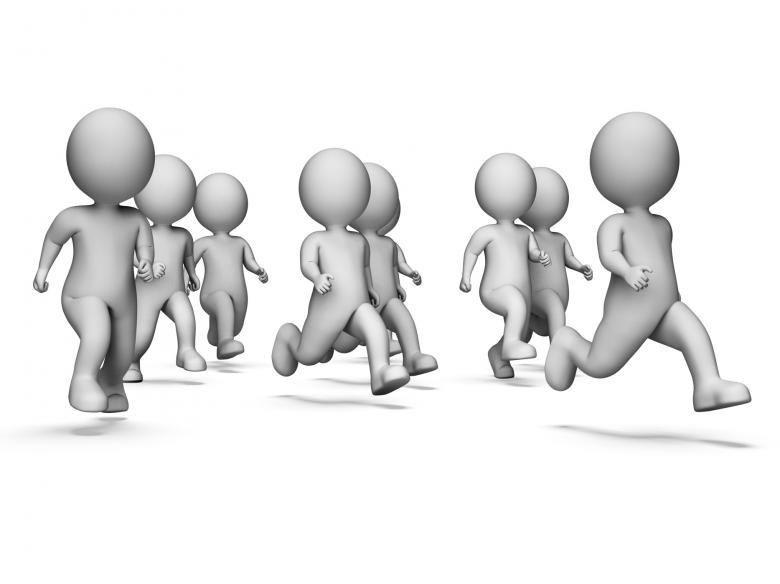 Free Stock Photo of Health Running Means Get Fit And Characters 3d Rendering Created by Stuart Miles