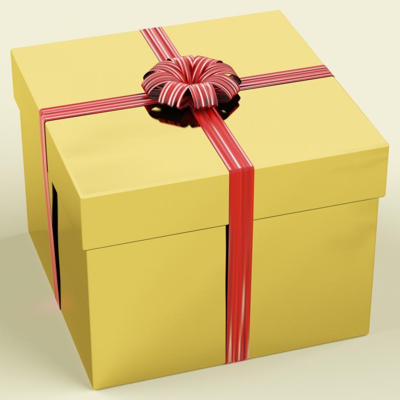 Gold gift box with ribbon as birthday present free stock photo gold gift box with ribbon as birthday present free stock photo negle Choice Image