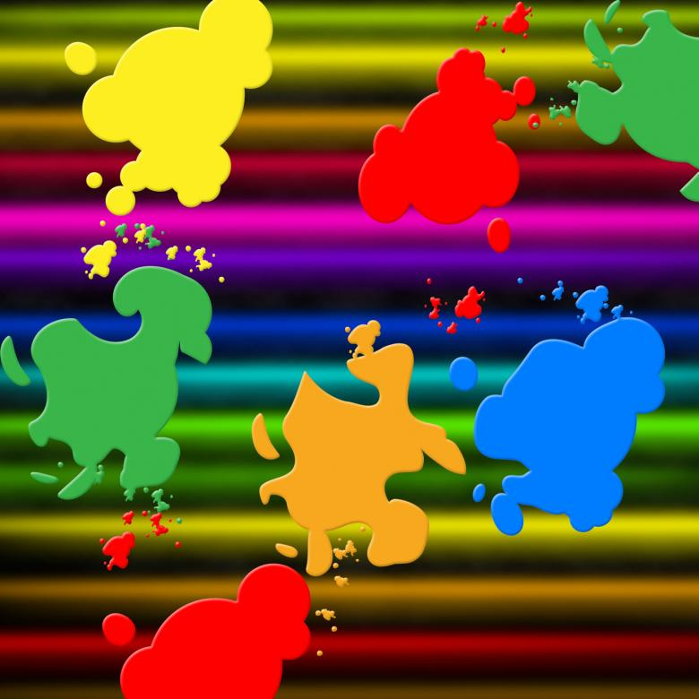 Free Stock Photo of Colors Paint Shows Splashed Background And Splashing Created by Stuart Miles