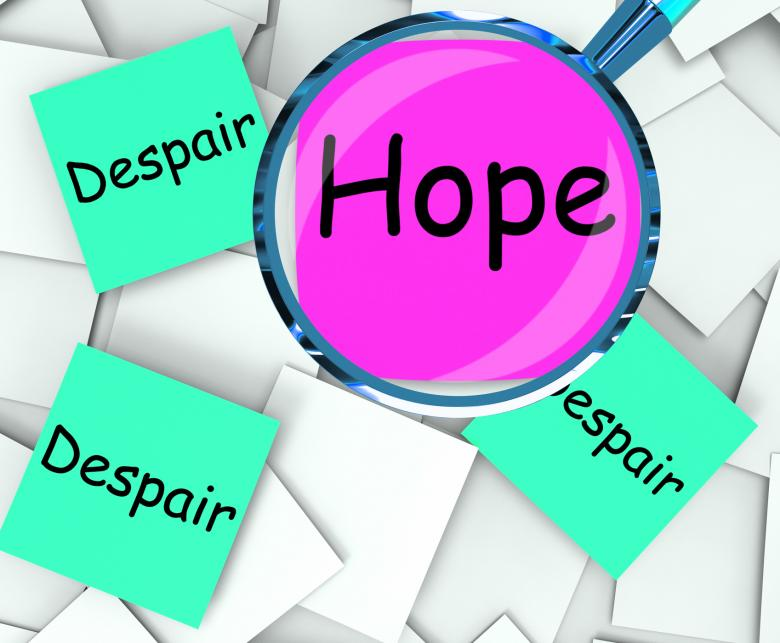 Free Stock Photo of Hope Despair Post-It Papers Show Wishing Or Desperate Created by Stuart Miles