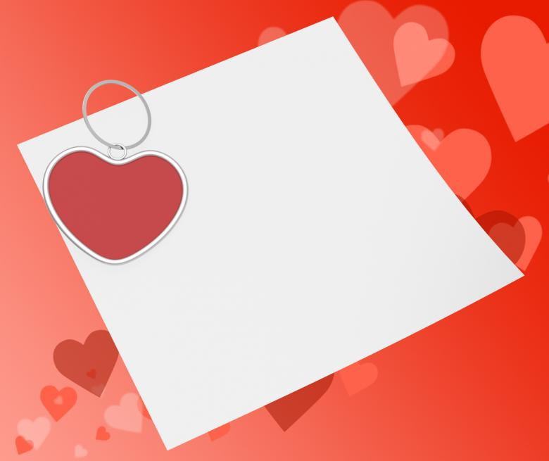 Free Stock Photo of Heart Clip On Note Means Affection Note Or Love Message Created by Stuart Miles