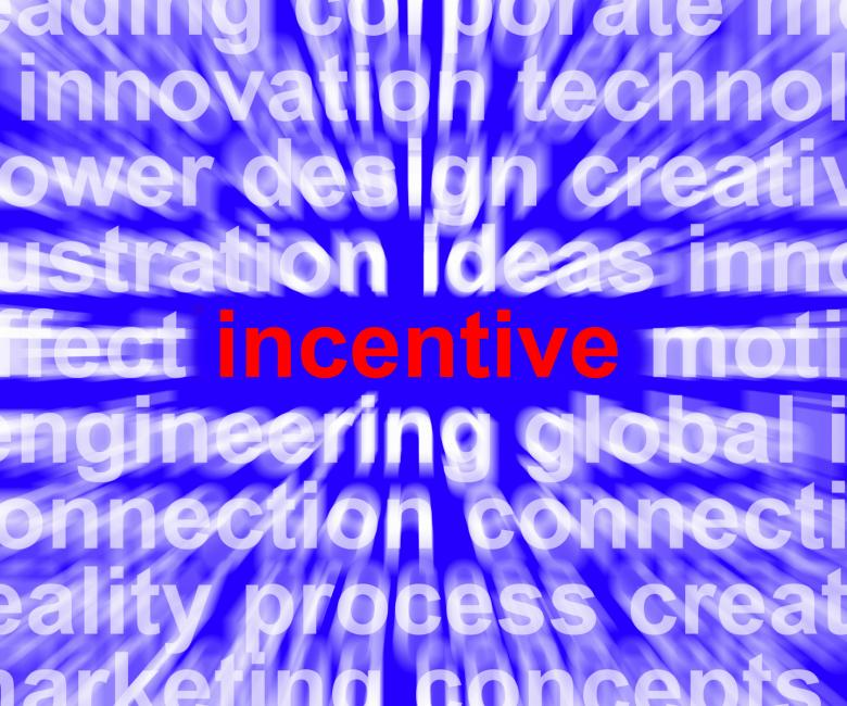 Free Stock Photo of Incentive Word Meaning Bonus Enticement Or Coercing Created by Stuart Miles