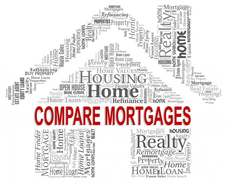 Free Stock Photo of Compare Mortgages Shows Home Loan And Buy Created by Stuart Miles