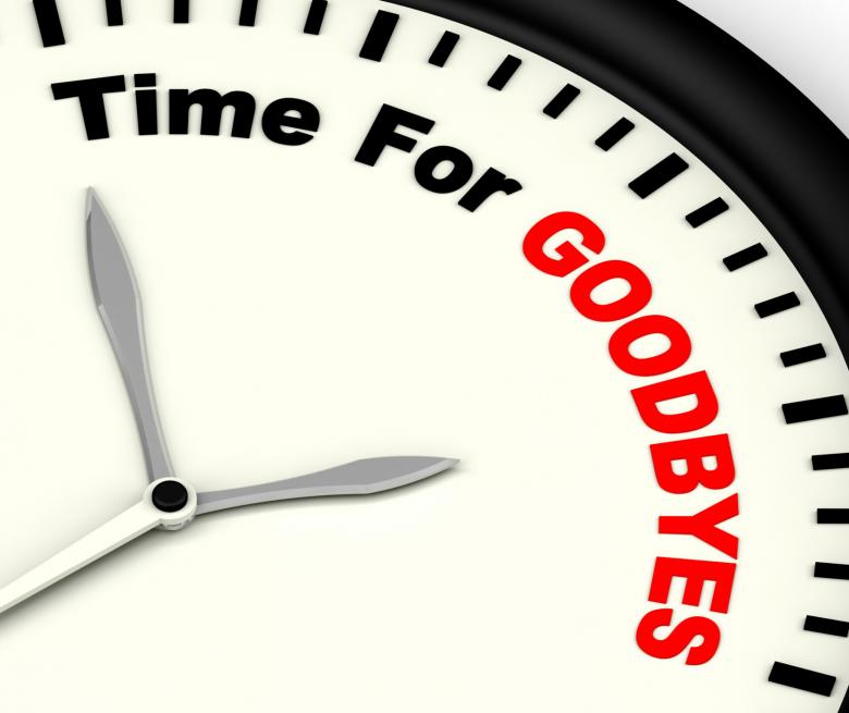 Free stock image of Time For Goodbyes Message Meaning Farewell Or Bye created by Stuart Miles