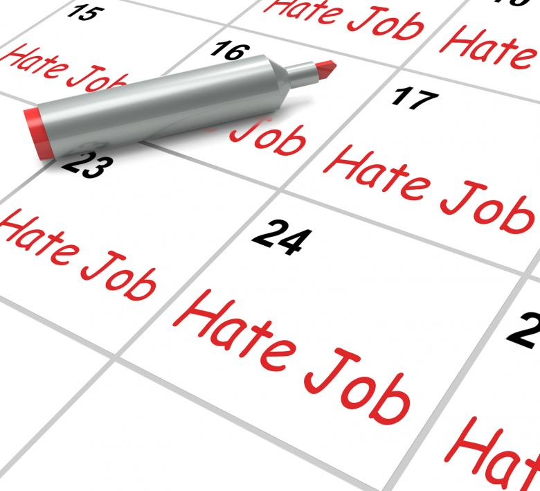 Free Stock Photo of Hate Job Calendar Means Miserable At Work Created by Stuart Miles