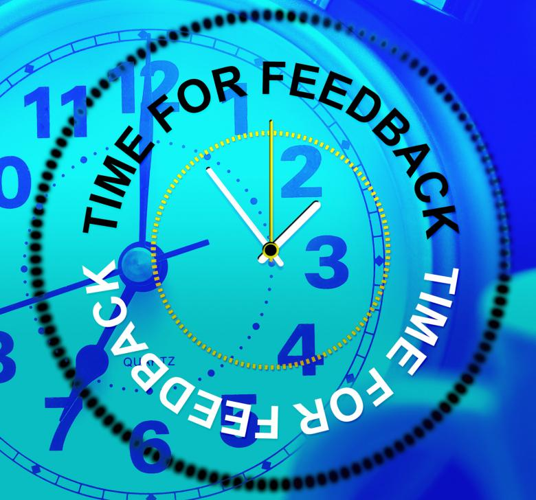 Free Stock Photo of Time For Feedback Shows Response Comment And Survey Created by Stuart Miles