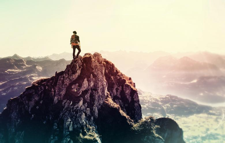 Free Stock Photo of Man on the Summitt - Achiever Created by Jack Moreh