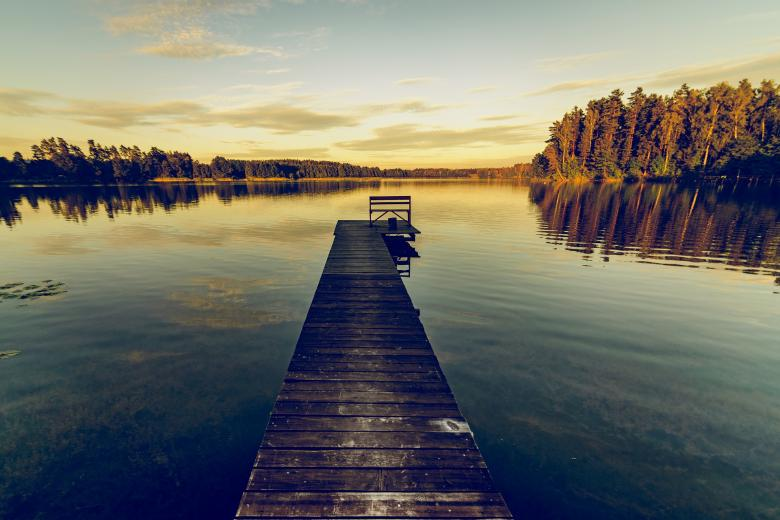 Free Stock Photo of Dock on the Lake Created by Pixabay