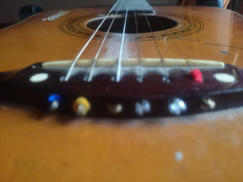Free Stock Photo of Acoustic Guitar Closeup Created by febri nura tarigan