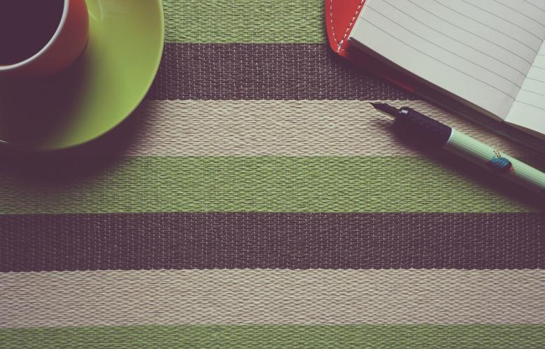 Free Stock Photo of Coffee and Diary Created by Pixabay