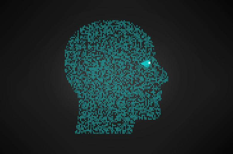 Free Stock Photo of Binary Head - Artificial Intelligence Concept Created by Jack Moreh