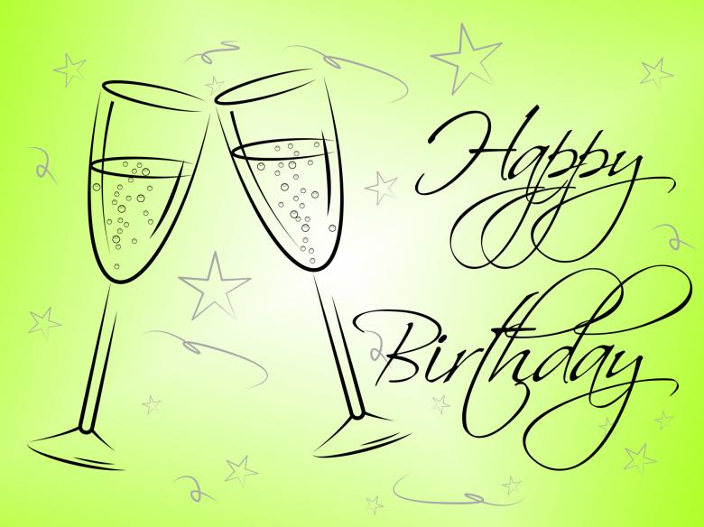 Free Stock Photo of Happy Birthday Glasses Indicates Celebrating Celebration And Party Created by Stuart Miles