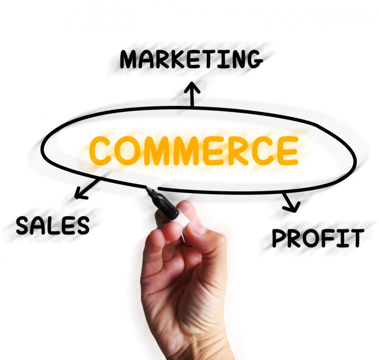 Free Stock Photo of Commerce Diagram Displays Marketing Sales And Profit Created by Stuart Miles