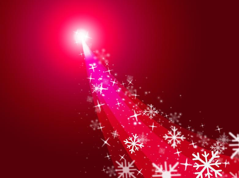 Red Xmas Represents New Year And Celebrate - Free Christmas Illustrations