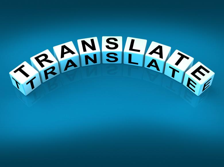 Free Stock Photo of Translate Blocks Show Multilingual or International Translator Created by Stuart Miles