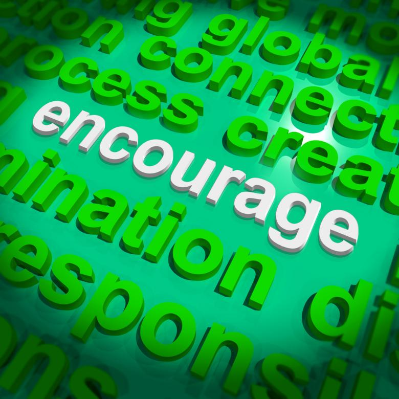 Free Stock Photo of Encourage Word Cloud Shows Promote Boost Encouraged Created by Stuart Miles