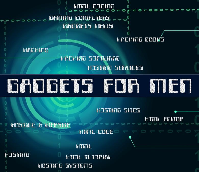 Free Stock Photo of Gadgets For Men Represents Mod Con And Gismo Created by Stuart Miles