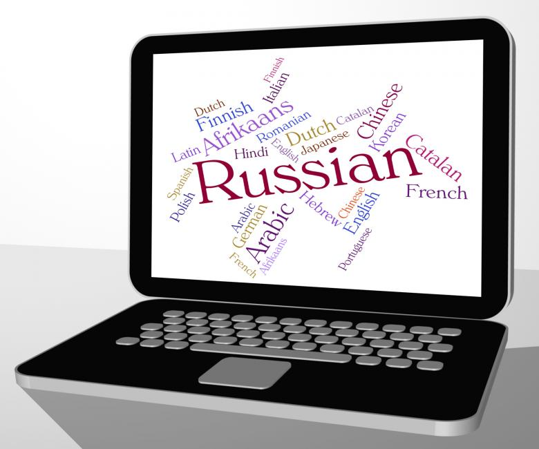 Free Stock Photo of Russian Language Represents Translator Lingo And Foreign Created by Stuart Miles