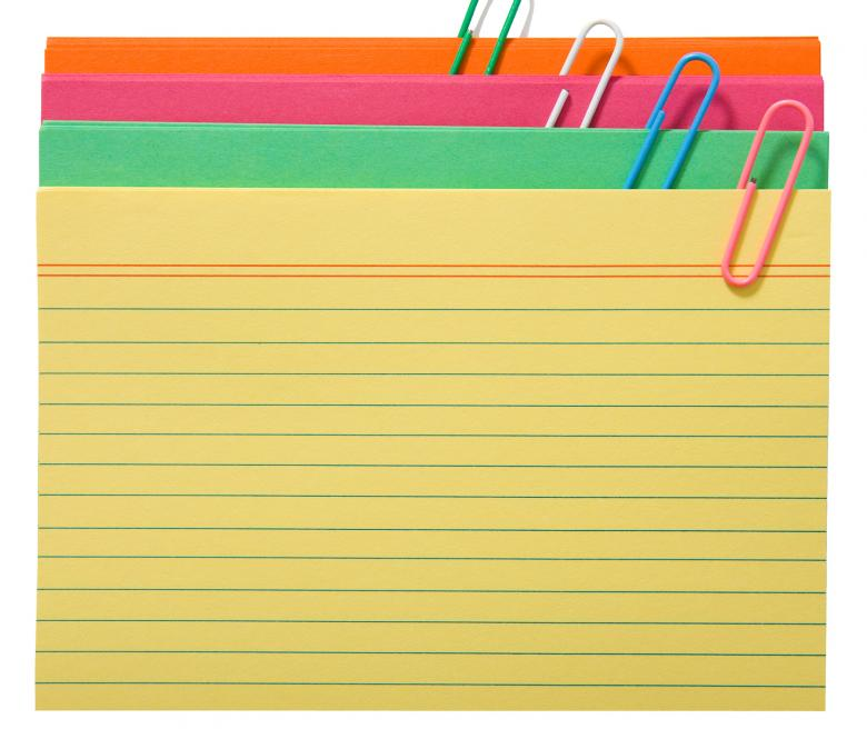 Blank Index Cards For Notes Free Photo