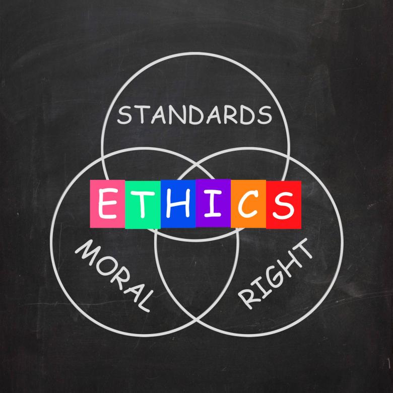 Free Stock Photo of Ethics Standards Moral and Right Words Show Values Created by Stuart Miles