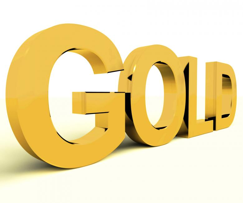 Gold Letters As Symbol For Wealth Or Riches Free Stock Photo By