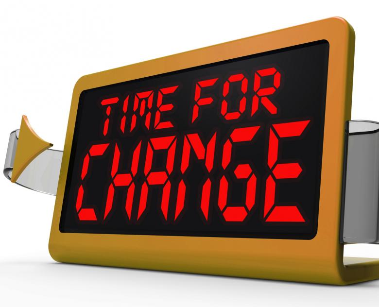 Free Stock Photo of Time For Change Clock Shows Revision New Strategy And Goals Created by Stuart Miles