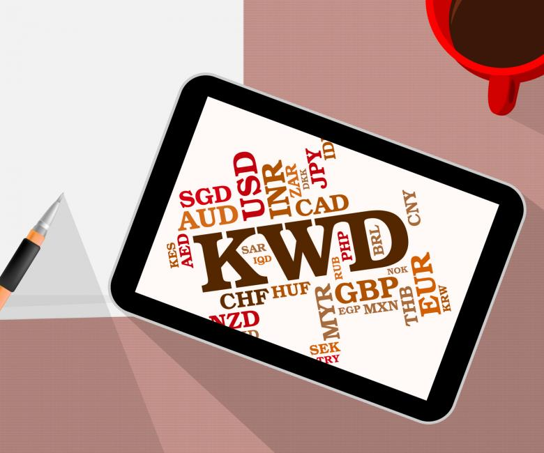 Kwd Currency Shows Foreign Exchange And Broker Free Stock Photo By
