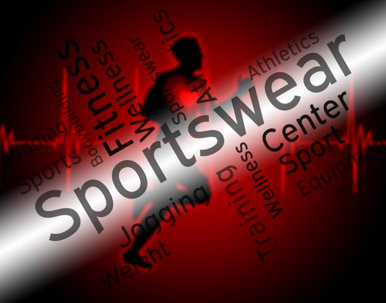 Free Stock Photo of Sportswear Word Indicates Shirt Garments And Words Created by Stuart Miles