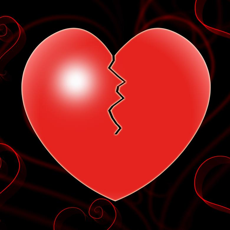 Free Stock Photo of Broken Heart Represents Valentines Day And Affection Created by Stuart Miles