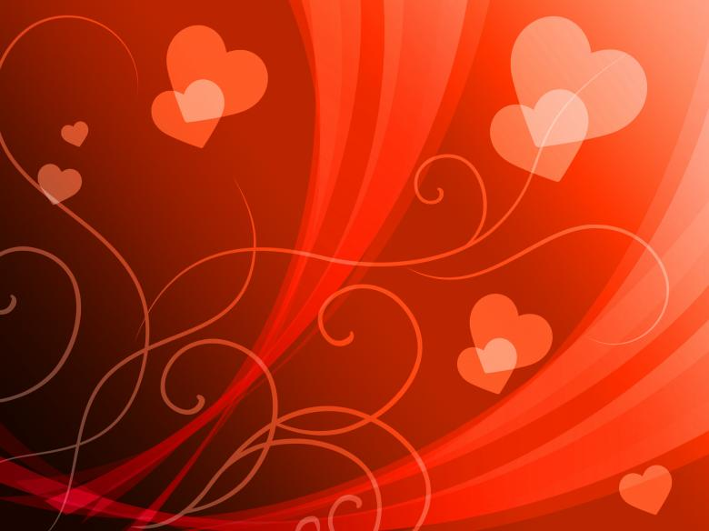 Free Stock Photo of Elegant Hearts Background Shows Delicate Romantic Wallpaper Created by Stuart Miles