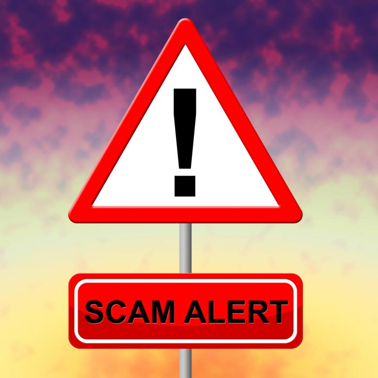 Free Stock Photo of Scam Alert Indicates Rip Off And Advertisement Created by Stuart Miles