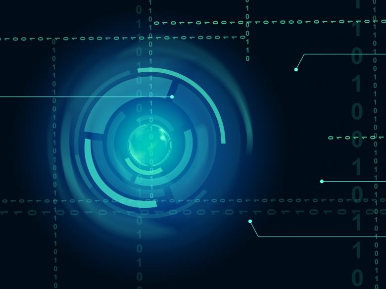 Electronic Sensor Background Means Eye Sensor Or Trendy Technology - Free Technology Stock Photos