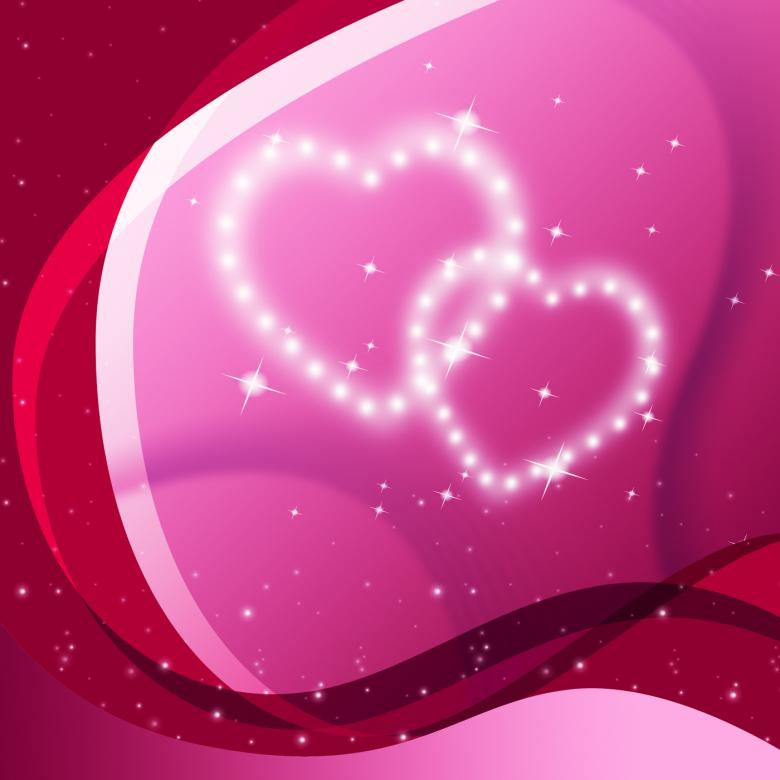 Pink Hearts Background Means Valentine Desire And Partner - Free Valentines Day Images