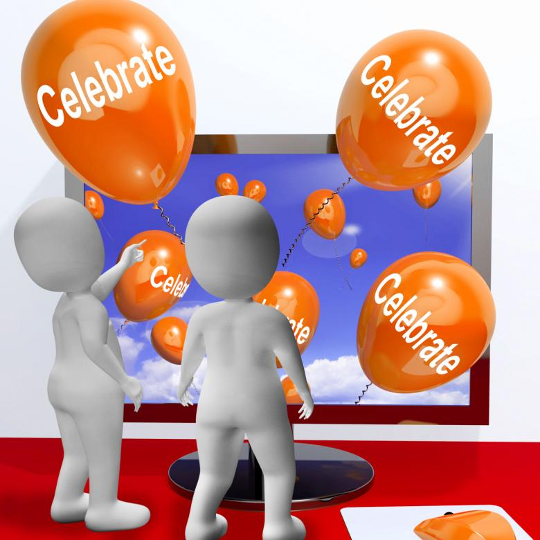 Free Stock Photo of Celebrate Balloons Mean Parties and Celebrations Online Created by Stuart Miles