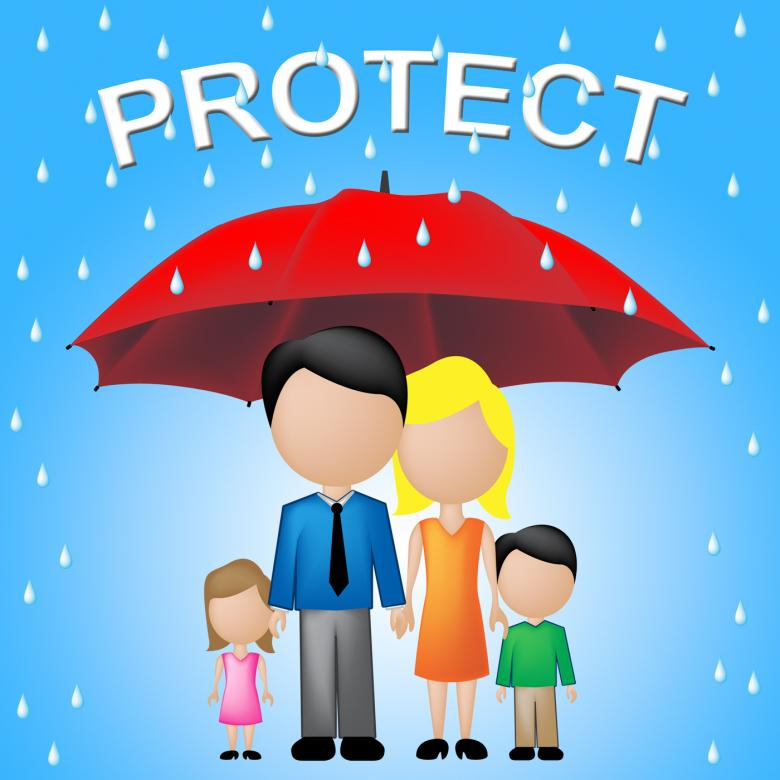 Free Stock Photo of Protect Family Represents Take Care And Families Created by Stuart Miles