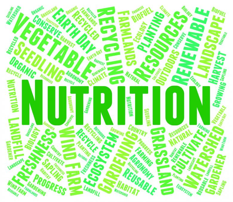 Free Stock Photo of Nutrition Word Shows Food Words And Nutriments Created by Stuart Miles