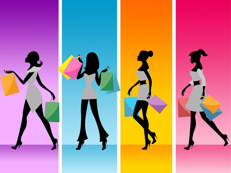 Free Stock Photo of Women Shopping Shows Retail Sales And Adult Created by Stuart Miles