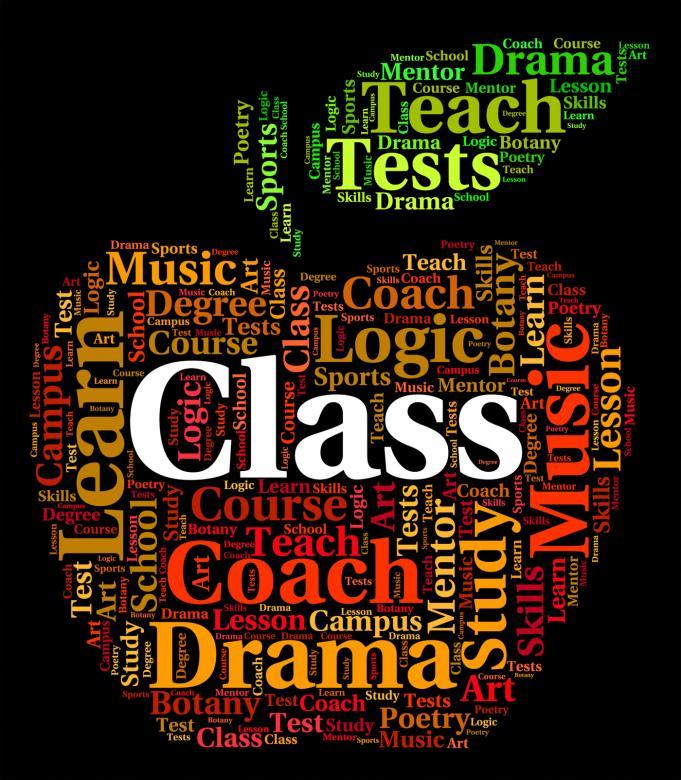 Free Stock Photo of Class Word Indicates Classrooms Text And Education Created by Stuart Miles