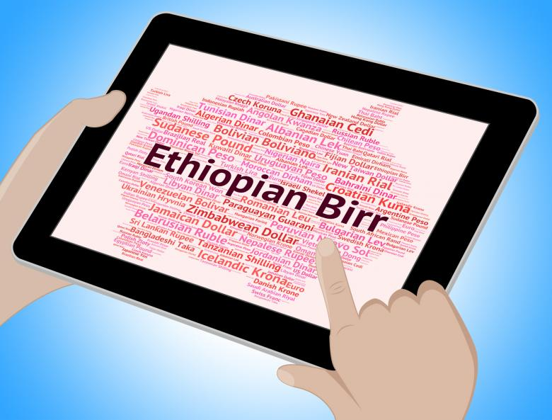Ethiopian Birr Represents Foreign Currency And Etb Free Stock