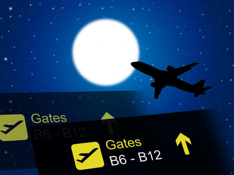 Nighttime Flight Shows Global International And Air - Free Travel Illustrations