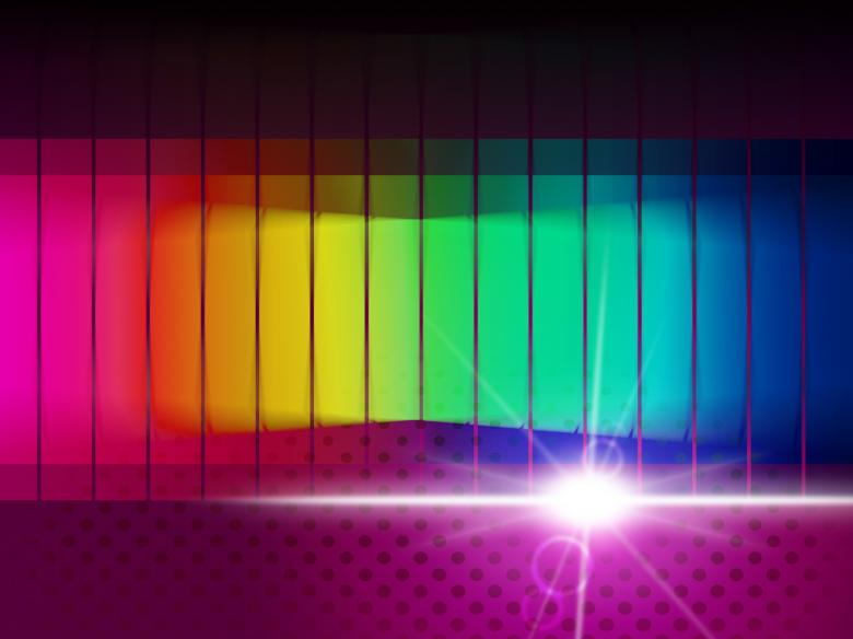 Glow Spectrum Shows Color Guide And Chromatic Free Photo