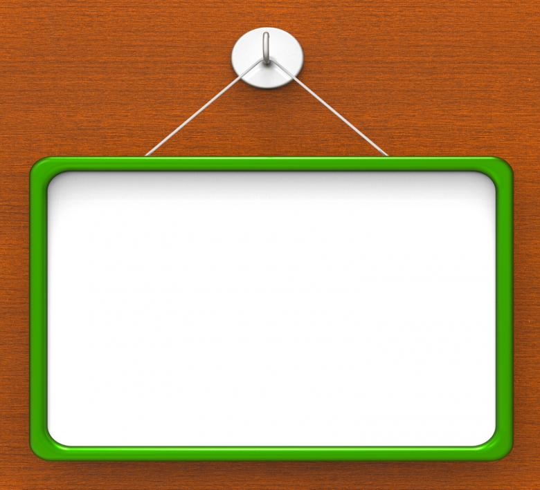 Free Stock Photo of Blank Noticeboard Copyspace Shows Display Space Created by Stuart Miles