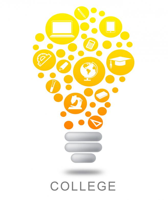 Free Stock Photo of College Lightbulb Shows Power Source And Bright Created by Stuart Miles