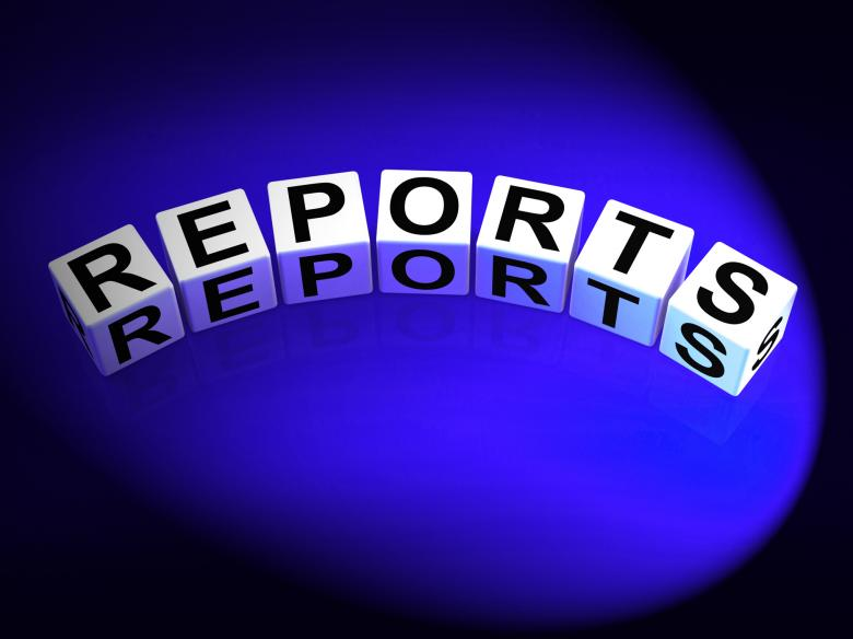 Free Stock Photo of Reports Dice Represent Reported Information or Articles Created by Stuart Miles