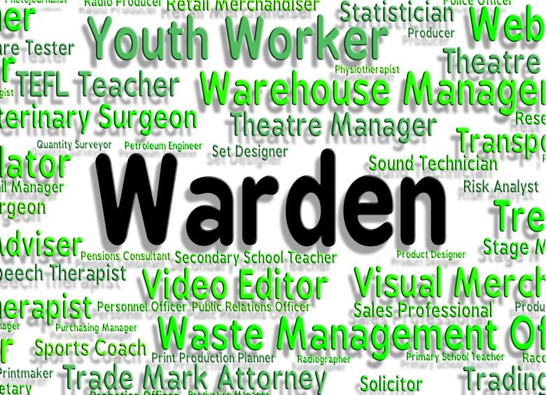 Free stock image of Warden Job Indicates Occupations Position And Steward created by Stuart Miles