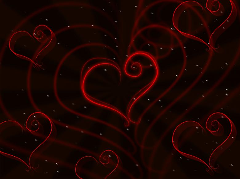 Hearts Background Shows Valentine Day And Affection - Free Valentines Day Images